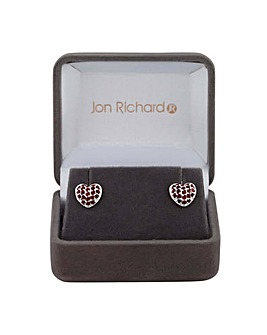 Jon Richard Pave Heart Earring