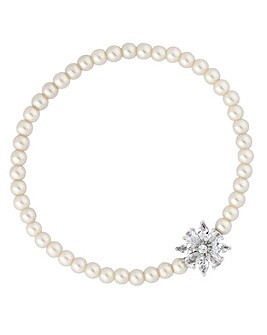 Jon Richard Flower Pearl Bracelet