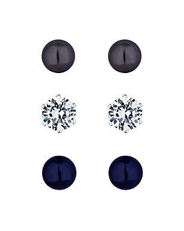 Jon Richard Pearl Stud Earring Set
