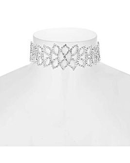 Mood Crystal Leaf Choker Necklace