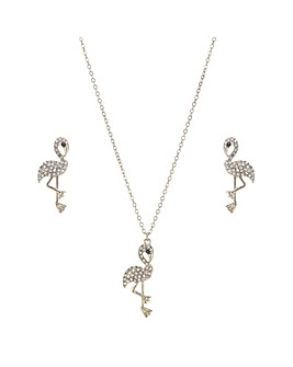 Mood Crystal Flamingo Jewellery Set
