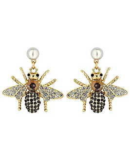 Mood Crystal Bee Drop Earring