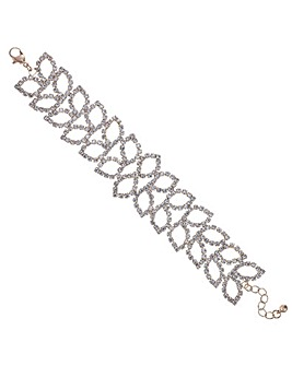 Mood Diamante Leaf Bracelet
