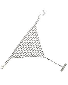 Mood Diamante Crystal Hand Chain