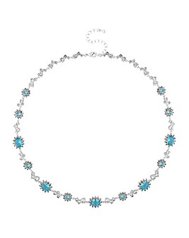 Alan Hannah Aqua Halo Necklace