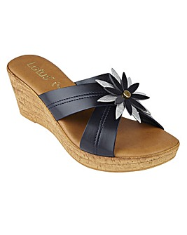 LOTUS JAPONICA WEDGE SANDALS