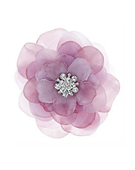 Mood Pink floral crystal brooch