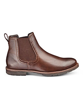 Leather Look Chelsea Boots