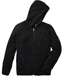 Firetrap Howlet Hooded Knit Zip Thru
