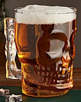 Skull Pint Glass