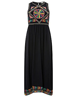 Monsoon Maylin Embroidered Midi Dress