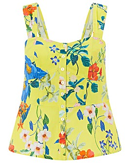 Monsoon Flora Print Poplin Cami