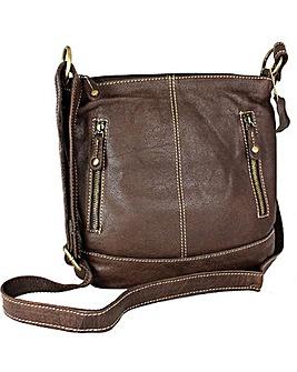 Blousey Brown  Leather Shoulderbag