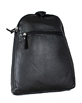 Blousey Brown  Leather Backpack