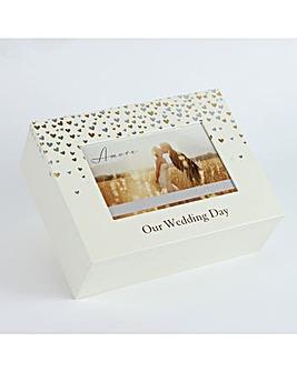 Amore Little Hearts Wedding Keepsake Box