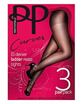 Pretty Polly Curves 3Pk Tights