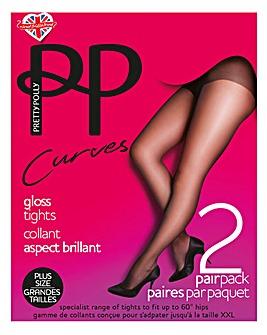 Pretty Polly Curves 2Pk Gloss Tights