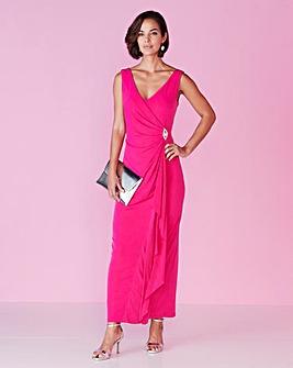 Joanna Hope Jewel Trim Maxi Dress