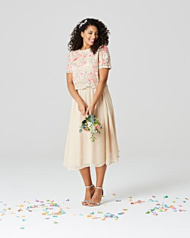 Joanna Hope Embellished Overlay Dress