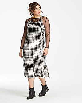 Glamorous Curve Check Slip Dress
