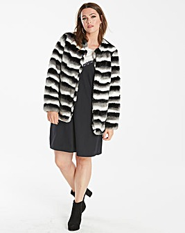 Junarose Faux Fur Stripe Jacket