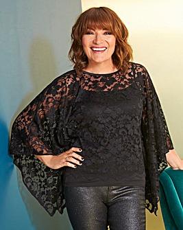 Lorraine Kelly Lace Overlay
