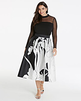 Coast Iris Print Full Skirt