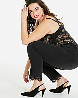 Drew Lace Hem Straight Leg Jeans