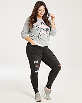 Chloe Slogan Badge Skinny Jeans