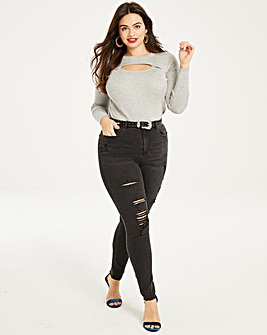 Chloe High Waist Distressed Skinny Jeans