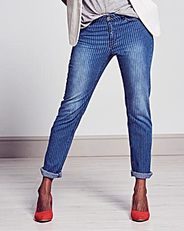 Sadie Slim Leg Striped Jeans