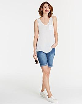 Stripe Sadie Denim Shorts