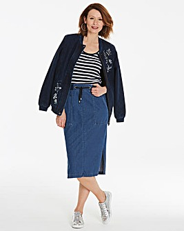 Premium Supersoft Jersey Denim Skirt