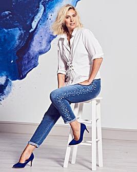 Sadie Slim Leg Pearl Jeans