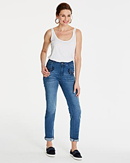 Bridget Embroidered Straight Leg Jeans