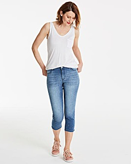 Sadie Metallic Stud Crop Jean