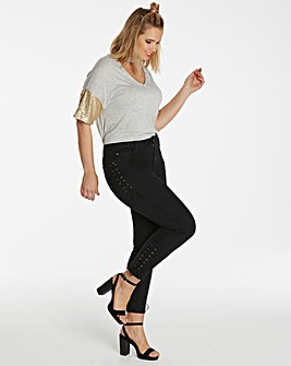 Chloe Lace Up Skinny Jeans