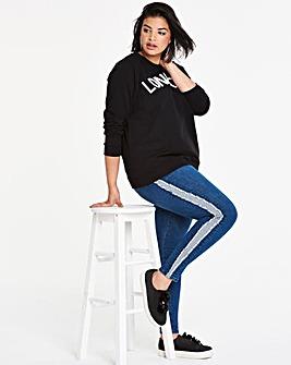 Chloe Fray Panel Skinny Jeans