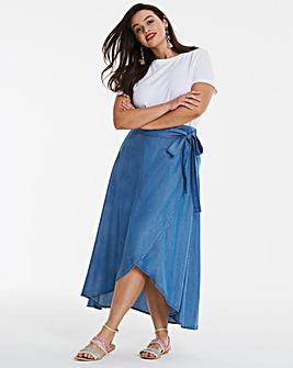 Tencel Wrap Floaty Maxi Skirt