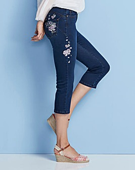 Shape & Sculpt Embroidered Crop Jean