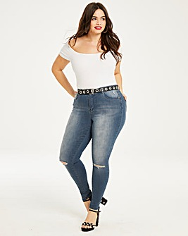 Chloe Ripped Knee Skinny Jeans Regular