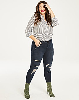 Chloe Distressed Skinny Jeans Regular
