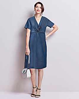 Tencel Twist Knot Front Dress