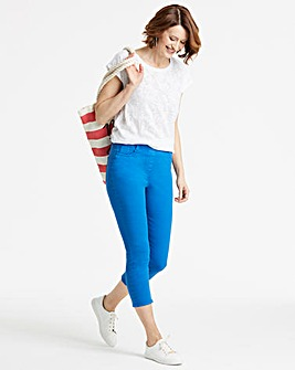 Cobalt Amber Pull-On Crop Jeggings
