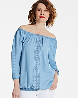 Embroidered Tencel Gypsy Tunic
