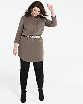 Soft Tencel Shirt Dress