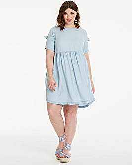 Soft Tencel Denim Bow Swing Dress