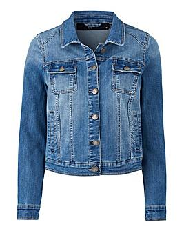 Petite Western Style Denim Jacket