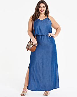 Petite Tiered Maxi Dress