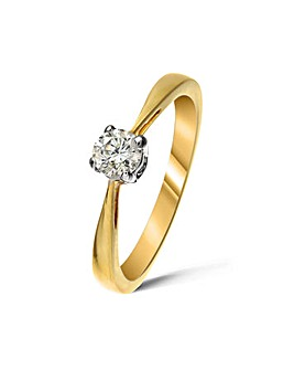 9ct Gold 0.2Ct Diamond Ring